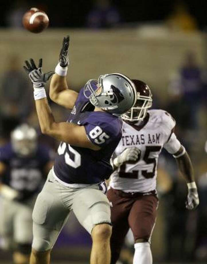 An all-around beating at the hands of Kansas State preceded two blowout wins for the Aggies. Photo: Charlie Riedel, AP