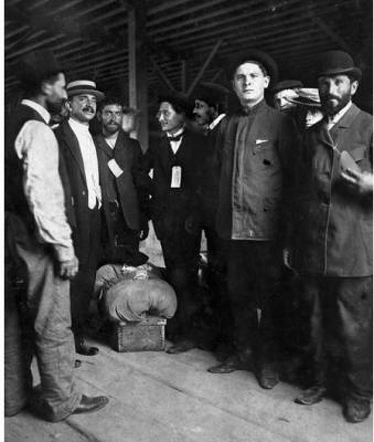 Picture of the Jewish Immigrants in Galveston.