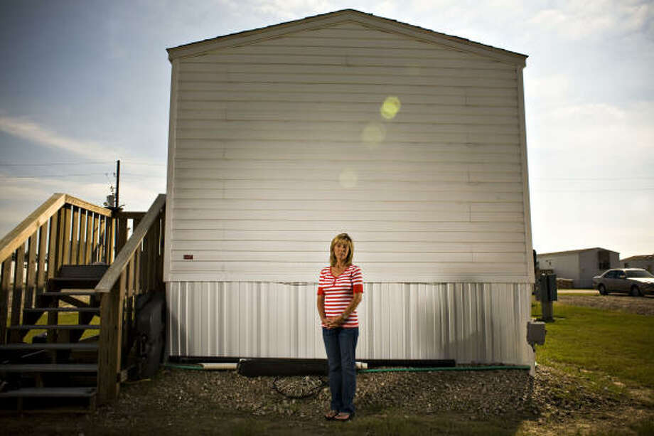 Yvonne VanZandt claims FEMA is trying to force storm victims out of federal trailers before the March 12 deadline. Photo: Eric Kayne, For The Chronicle