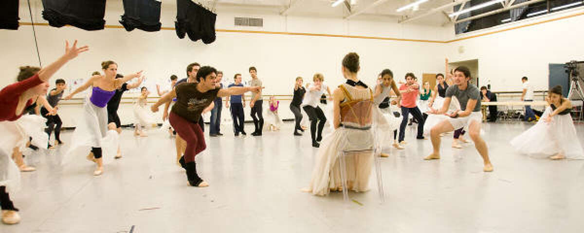 Artists of Houston Ballet rehearse Stanton Welch's Marie, based on the life of Marie Antoinette.