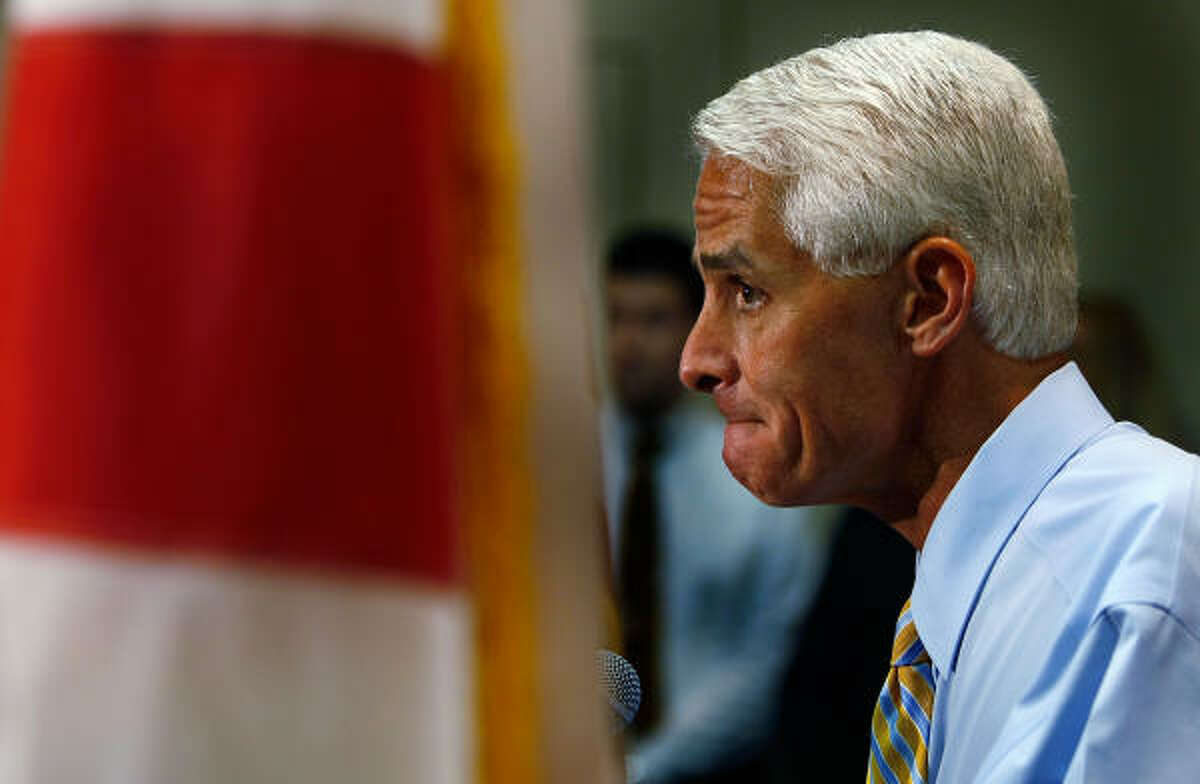 The Florida model, embodied by former Gov. Jeb Bush, current Gov. Charlie Crist (above) and retiring Sen. Mel Martinez, believes in GOP outreach to moderates, independents and minorities, and moderation in tone if not always in substance.