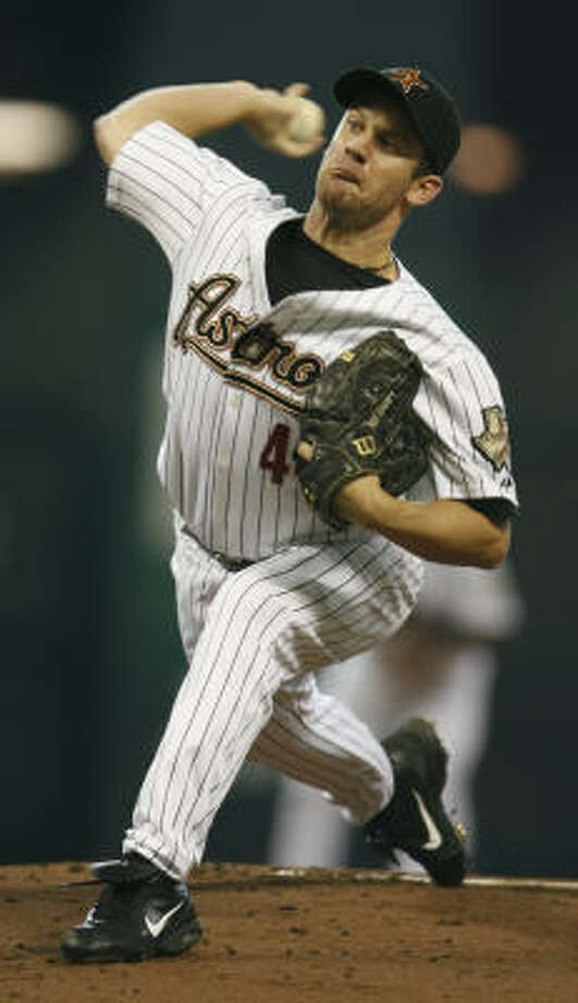 Roy Oswalt allowed one run in six innings. Oswalt struck out six and lowered his ERA to 4.30. Photo: Karen Warren, Chronicle