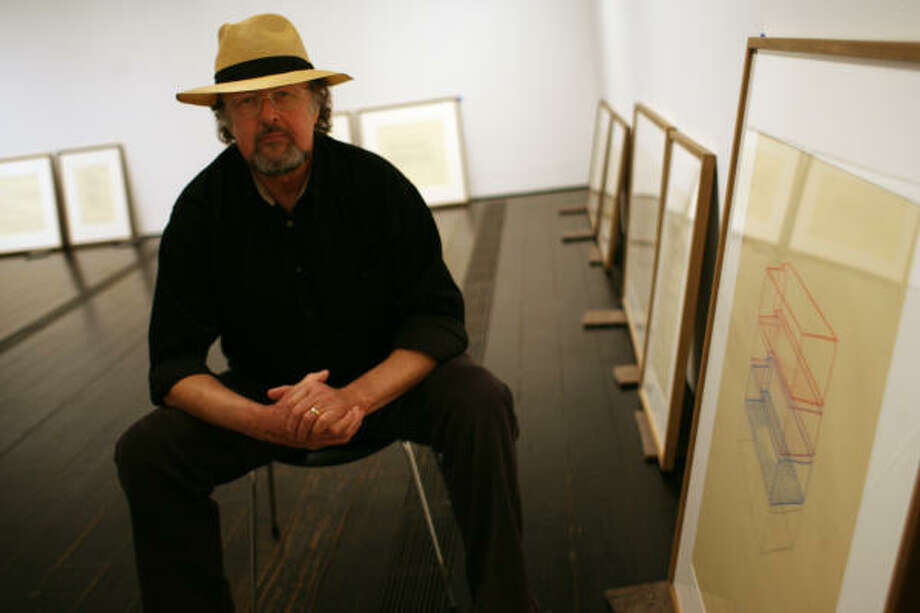 Max Neuhaus exhibited his Soundwork and Circumscription Drawings at the Menil in 2008. Photo: Sharon Steinmann, Houston Chronicle