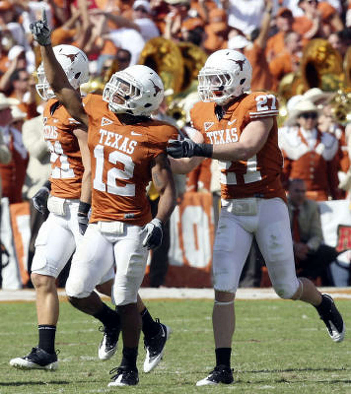 The third-ranked Texas Longhorns are riding high after Saturday's 16-13 win over arch rival Oklahoma.