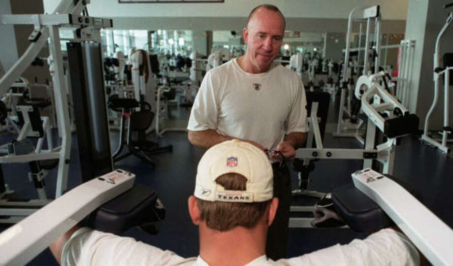 Texans strength coach Dan Riley had been with the team since it's first season in 2002. Photo: Steve Ueckert, Chronicle
