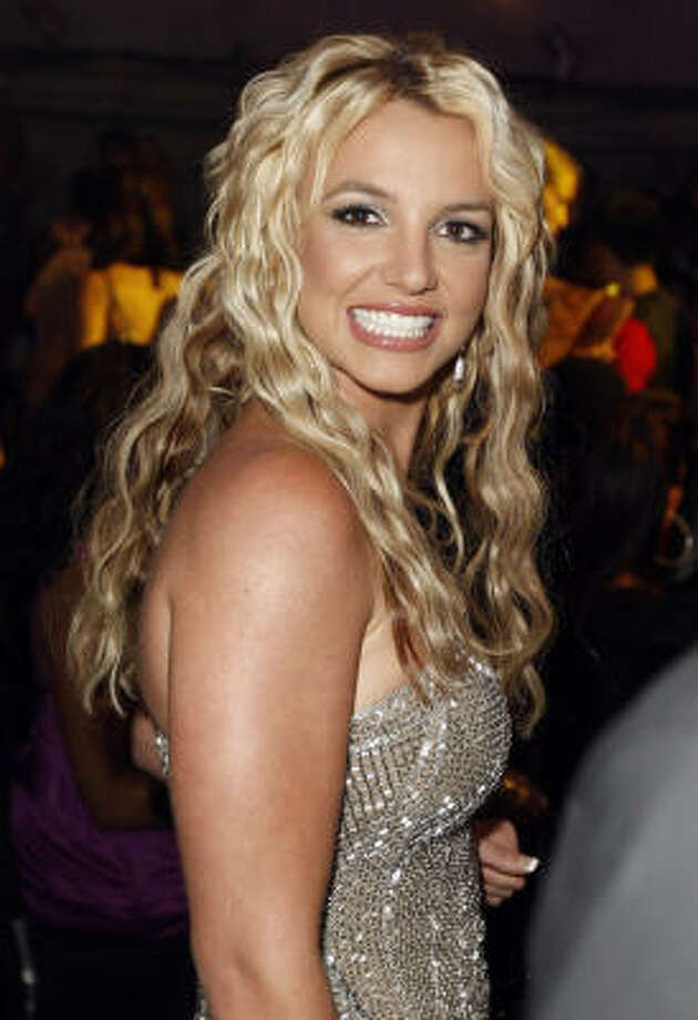 In this Sept. 7, 2008 file photo, Britney Spears is seen at the 2008 MTV Video Music Awards held at the Paramount Pictures Studio Lot in Los Angeles. Photo: Matt Sayles, AP