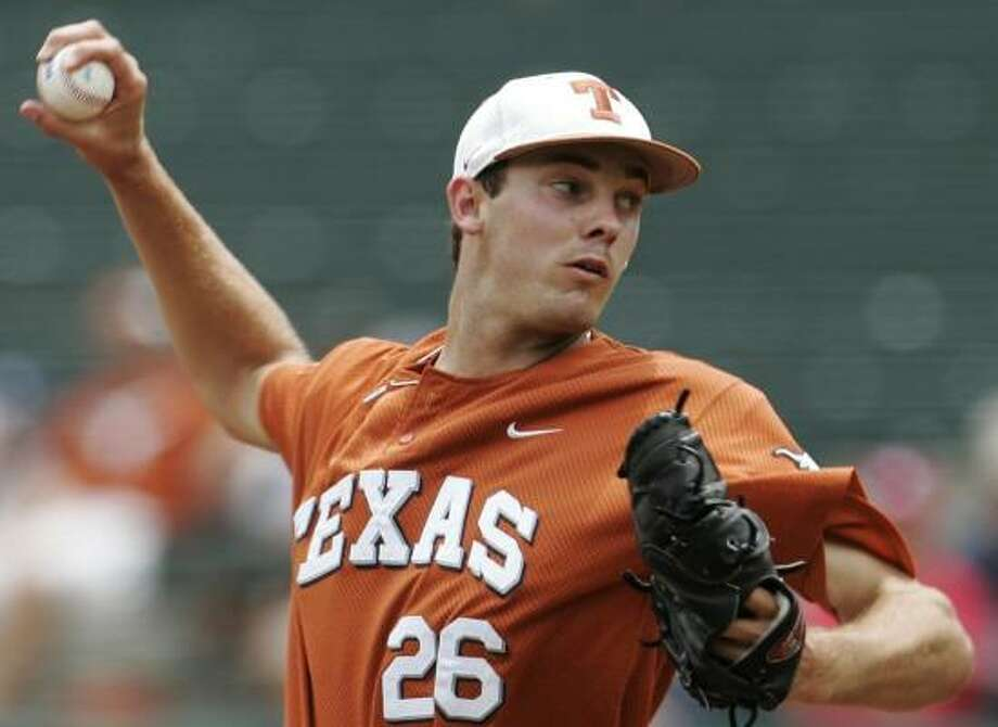 Texas righthander Taylor Jungmann allowed one earned run in 7 2/3 innings Saturday against Kansas State. Photo: AP