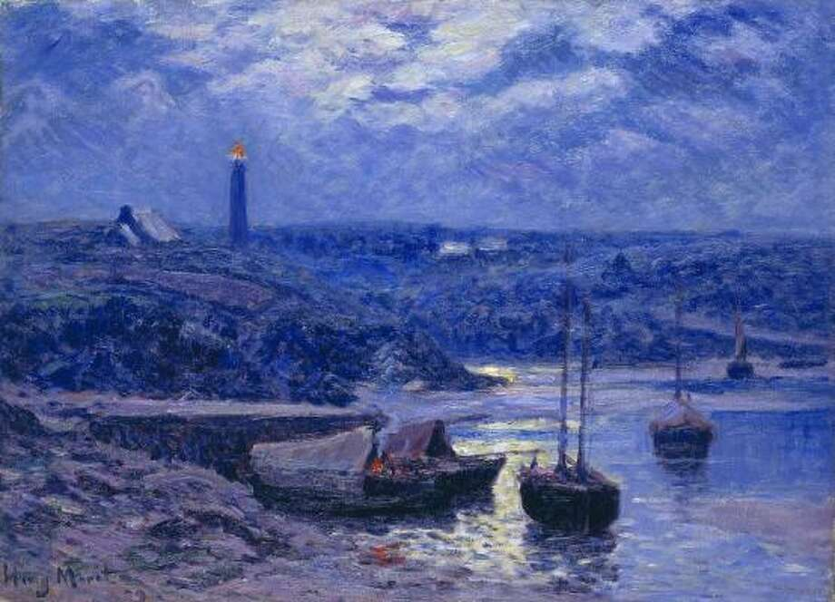 """French artist Henry Moret's Night in Doëlan (1909) is part of the exhibit The Moon: """"Houston, Tranquility Base Here. The Eagle Has Landed."""" at the Museum of Fine Arts, Houston. Photo: ALL"""