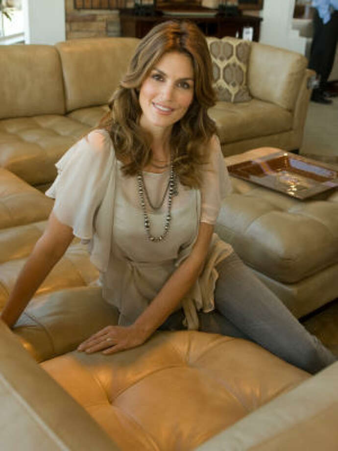 Cindy Crawford considered her sisters' needs before committing to working on a furniture line with designers from Rooms to Go. Photo: Steve Campbell, Houston Chronicle