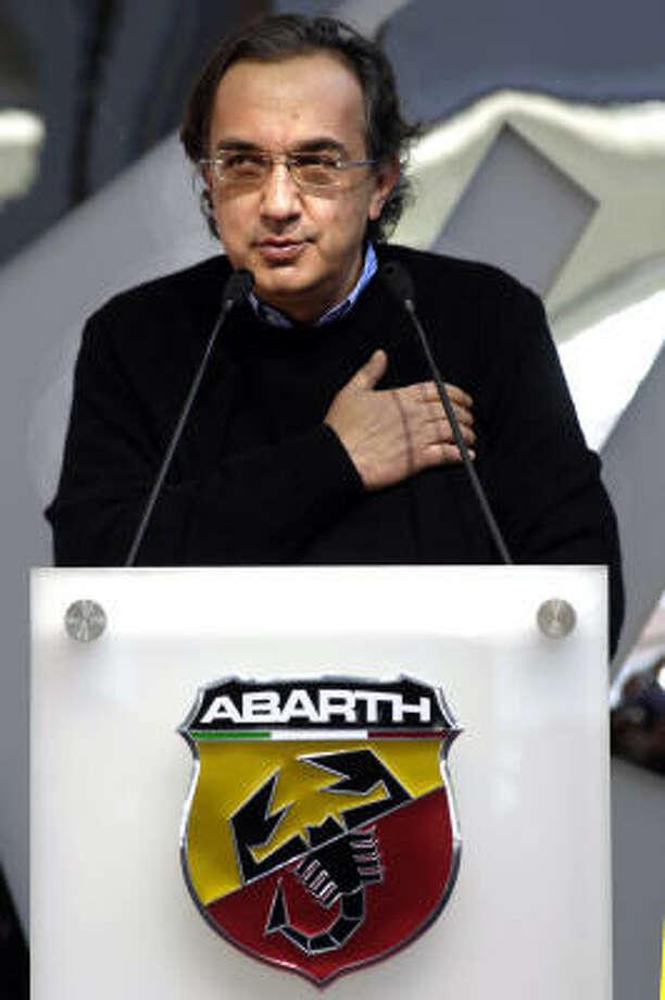 Fiat Auto Italian car manufacturer CEO Sergio Marchionne Photo: LUIGI BERTELLO, AFP/Getty Images
