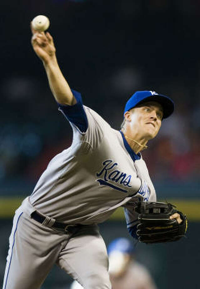 Zack Greinke allowed one run while pitching eight innings in his ninth win of the season. Photo: Smiley N. Pool, Chronicle
