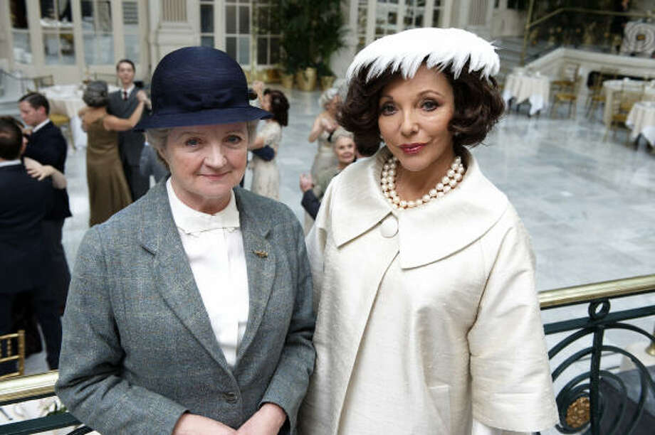 "Julia McKenzie and Joan Collins star in Miss Marple, Series IV: ""Masterpiece Mystery!"" on PBS. Photo: PBS"