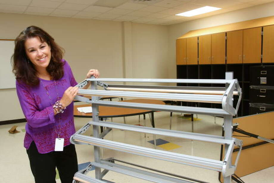 Brenda Boccieri of Sugar Land will teach art at Juan Seguin Elementary. Photo: Suzanne Rehak, For The Chronicle