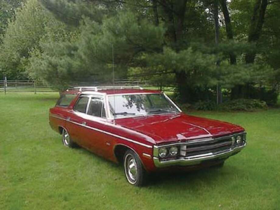 A total of 4,200 1971 AMC Matador wagons were built, equipped with the V-8 engine — a $300 option. The wagon's tailgate could be swung open on the hinges at the left side of the door or it could be lowered in a typical tailgate manner over the rear bumper.
