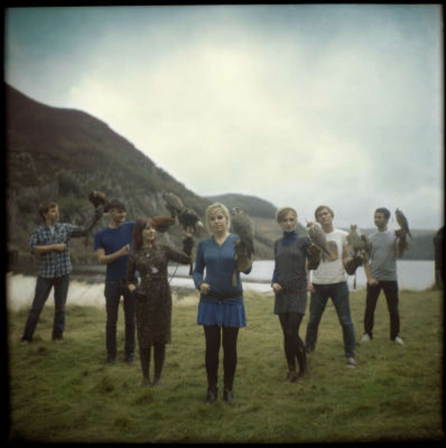 Welsh rock band Los Campesinos! is touring with sophomore effort We Are Beautiful, We Are Doomed. Photo: Jon Bergman