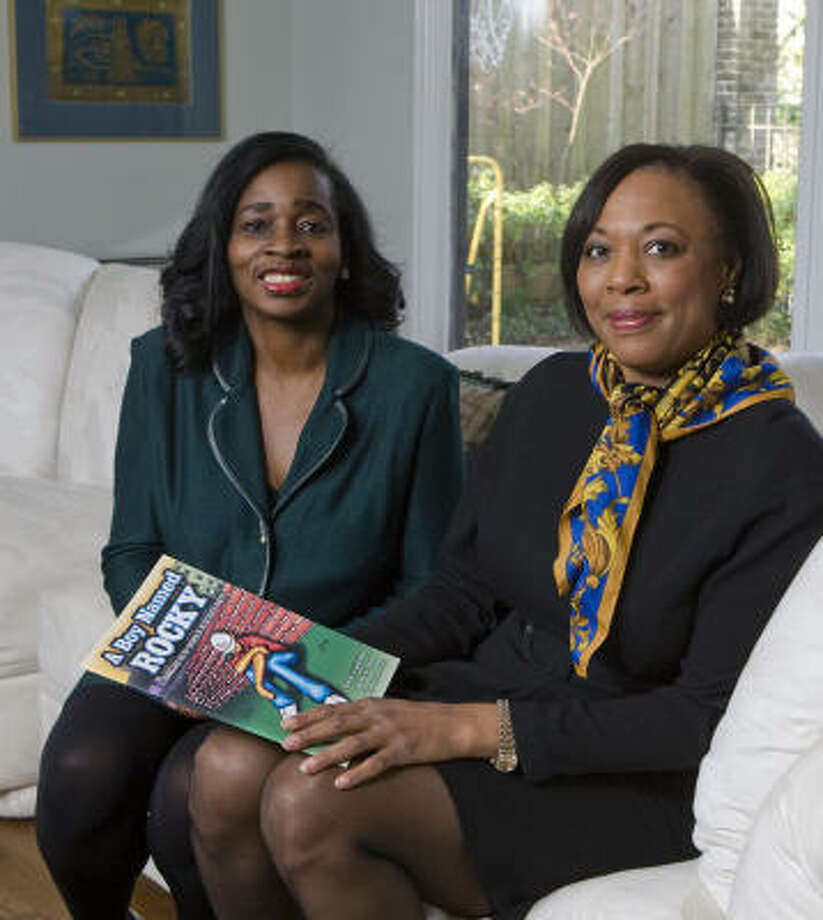 "Houston family therapist Janice Beal, left, and U.S. District Judge Vanessa D. Gilmore published ""A Boy Named Rocky"" after observing the effects suffered by children who have a parent in prison. Photo: NICK De La TORRE:, CHRONICLE"