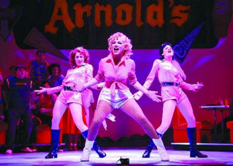 Sandra DeNise (center) stars as Pinky Tuscadero in Happy Days, the new musical presented by TUTS. Photo: Gerry Goodstein