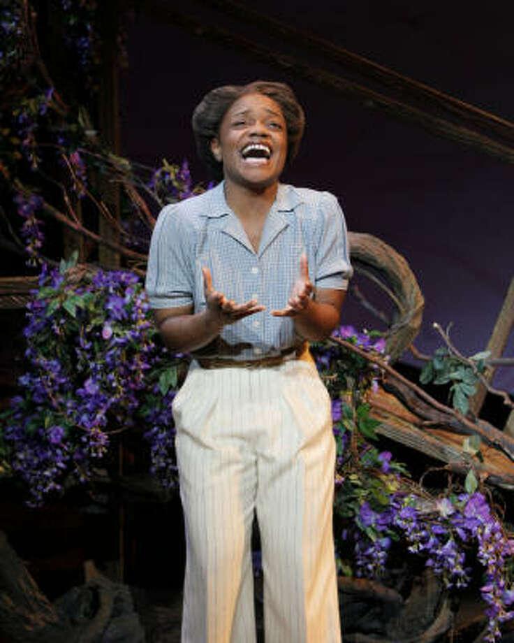 Kenita Miller stars as Celie In The Color Purple. Photo: Paul Kolnik