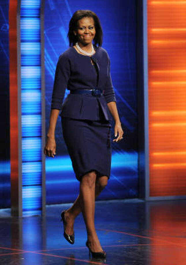 Michelle Obama shows she can look stylish without going overboard. Photo: Evan Agostini, ASSOCIATED PRESS