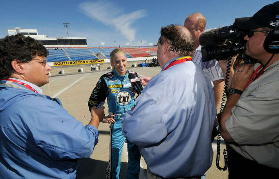 Kristin Bumbera's success behind the wheel has put her in the spotlight as a participant in NASCAR's Drive for Diversity for the second year in a row. Photo: Grant Halverson, Getty Images