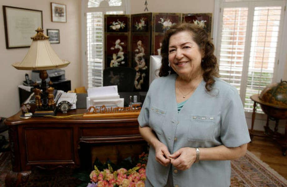 Guadalupe Quintanilla, lider comunitaria y educadora de la University of Houston. Photo: Melissa Phillip, Houston Chronicle
