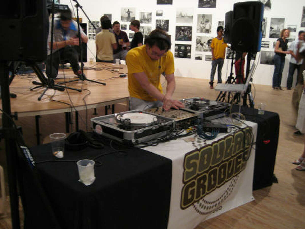 DJ Champa Moore spins during May's Steel Lounge Underground at the Contemporary Arts Museum Houston.