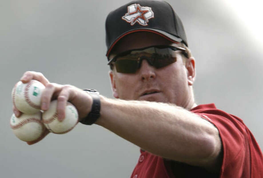 Sean Berry, who played three of his 11 seasons in the majors with the Astros, is in his fourth year as the team's hitting coach. Photo: KAREN WARREN, Chronicle