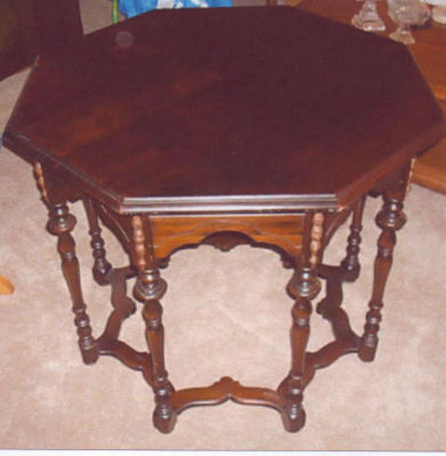 An octagonal table, inspired by the design of William and Mary furniture, would probably be worth $250 to $400.
