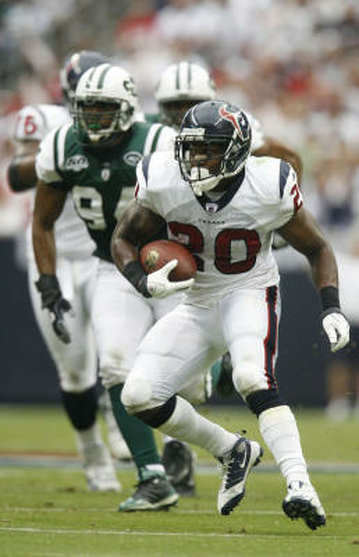 Steve Slaton knows he's going to be a marked man. He might as well have a bulls-eye on his back.