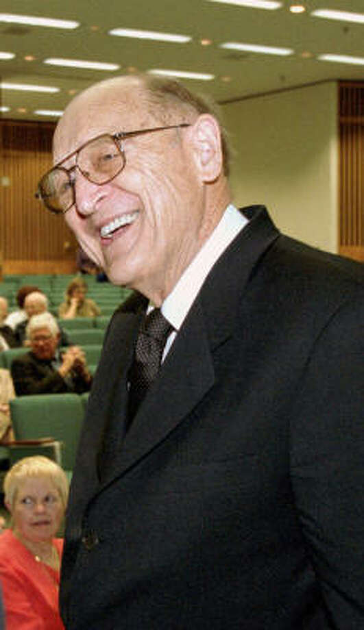 William Wayne Justice (shown in 2002) was appointed by President John F. Kennedy to be U.S. attorney for the eastern district of Texas in 1961. Seven years later President Lyndon B. Johnson appointed Justice to the federal bench in Tyler. Photo: Chronicle File