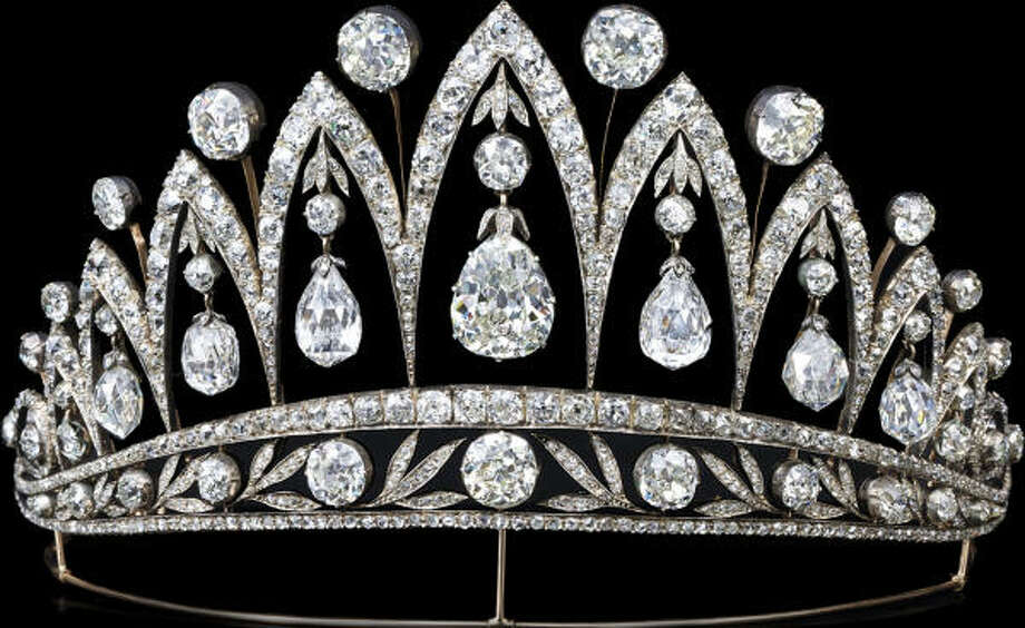 This diamond tiara was created by Fabergé c. 1890. The stunning briolette diamonds were a gift from Tsar Alexander I to Empress Josephine after she was divorced from Napoleon Bonaparte. This piece is one of only a few tiaras ever made by Fabergé. Photo: Houston Museum Of Natural Science