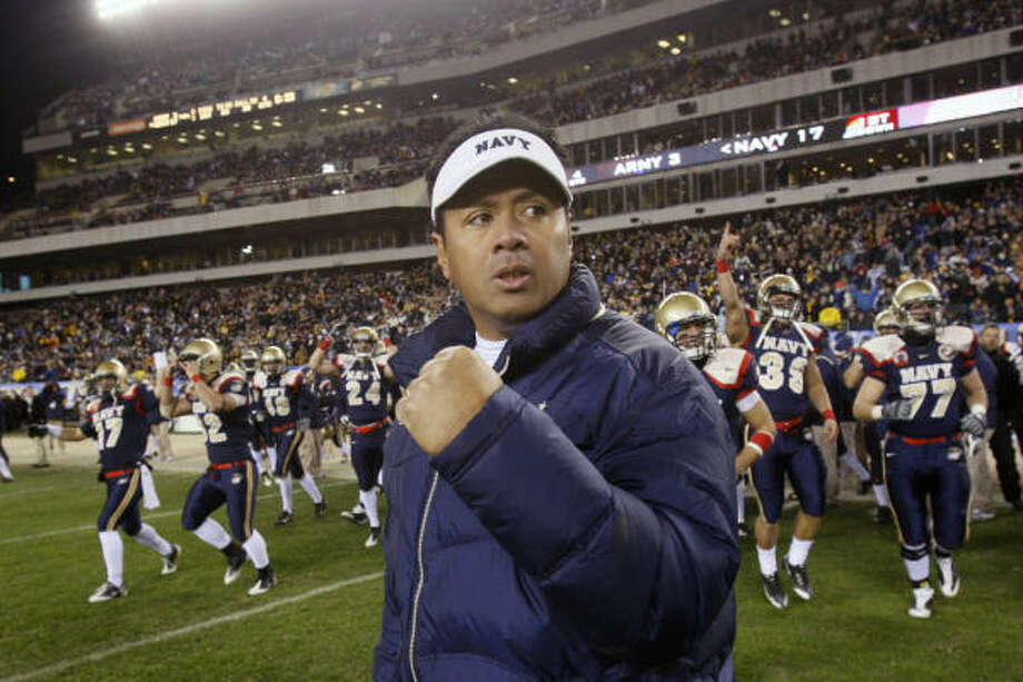A native of Hawaii, Navy head coach Ken Niumatalolo is the second coach of Polynesian descent in FBS history. Photo: Matt Slocum, AP