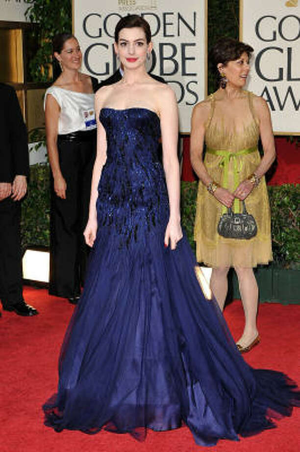 Anne Hathaway lost out on a Golden Globe, but she got our vote for best-dressed. Photo: Lionel Hahn, Abaca Press