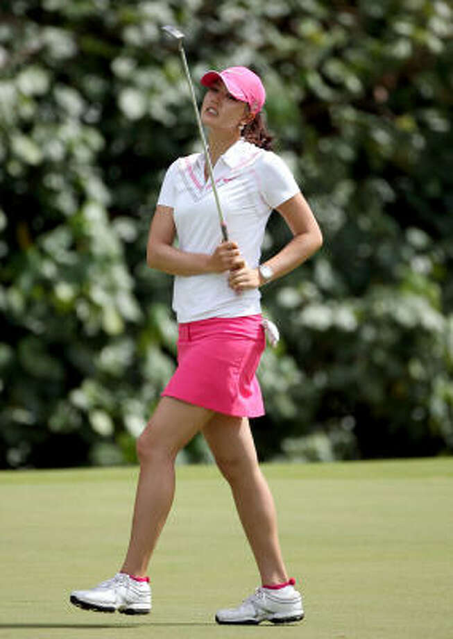 Michelle Wie's three-stroke lead evaporated as Angela Standord won the SBS Open. Photo: Andy Lyons, Getty Images