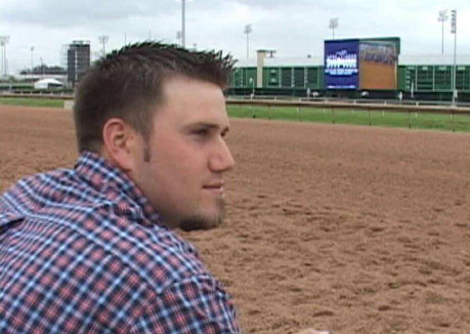 Colt Baker aspires to eventually have success like his father, Matt Baker, has had as a trainer. Photo: SHRP