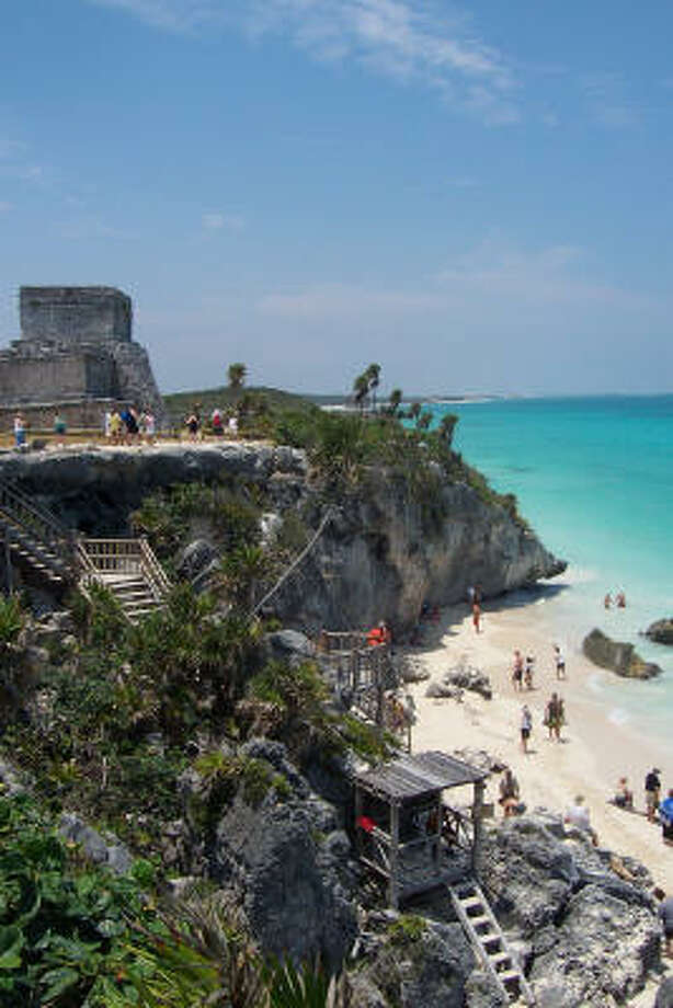 Tulum, which is situated directly above the ocean on Mexico's Yucatan Peninsula, is kid-friendly. Photo: Kristin Finan, Houston Chronicle