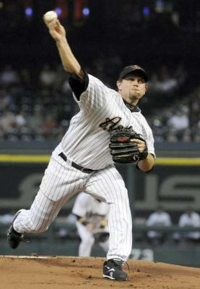 Brian Moehler's record this season was 8-12 with a 5.47 ERA. Photo: Pat Sullivan, AP