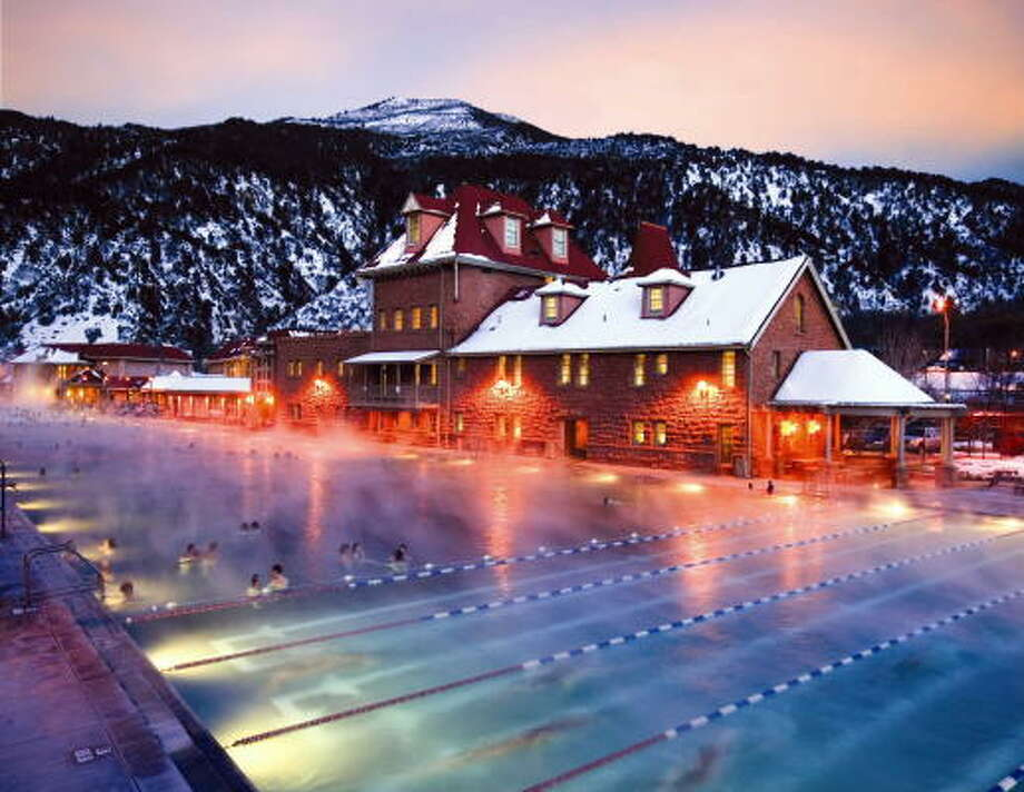 One of the top attractions in Colorado, Glenwood Hot Springs pool is on the hot list of adventures. Soothe your muscles after strenuous outdoor activities any time of year.  Photo: GLENWOOD HOT SPRINGS