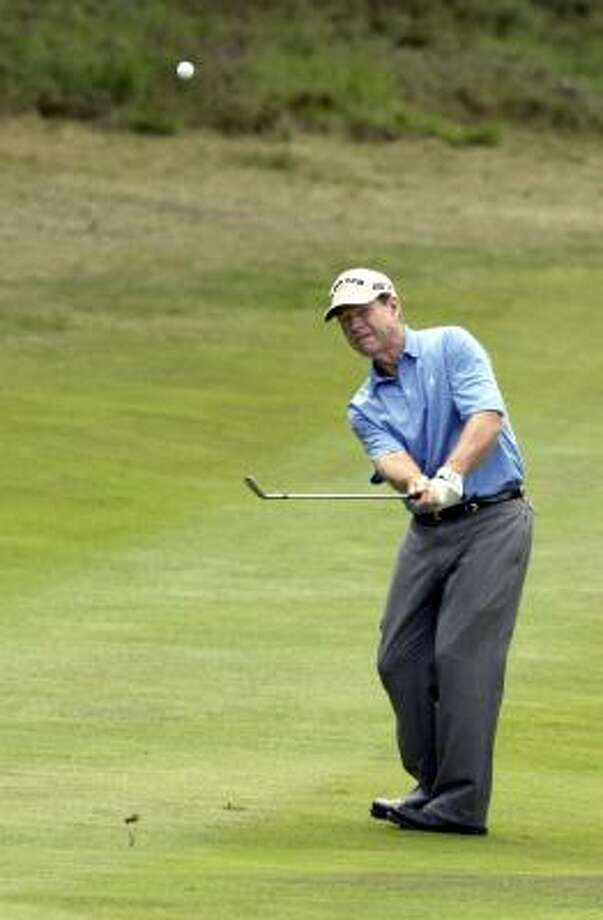 Tom Watson was told that Greg Norman, his playing partner Thursday who was in contention at last year's British Open, had said people were offering congratulations and commiseration for the next 51 weeks. Photo: TOM HEVEZI, AP