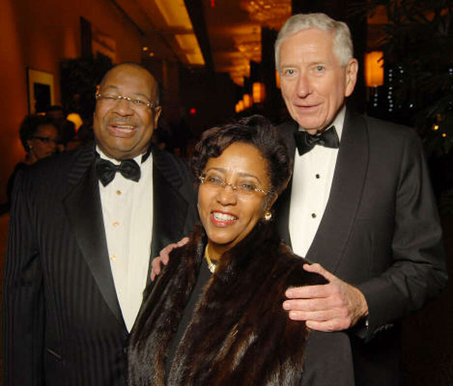 Jodie and Sonny Jiles with Drayton McLane, right, at the UNCF 21at annual Black Tie Gala. Photo: Dave Rossman, For The Chronicle
