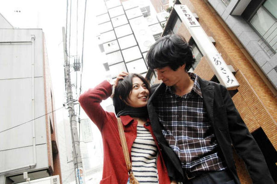 Ayako Fujitani, left, as Hiroko, and Ryo Kase, as Akira, star in Tokyo! Photo: Vitagraph