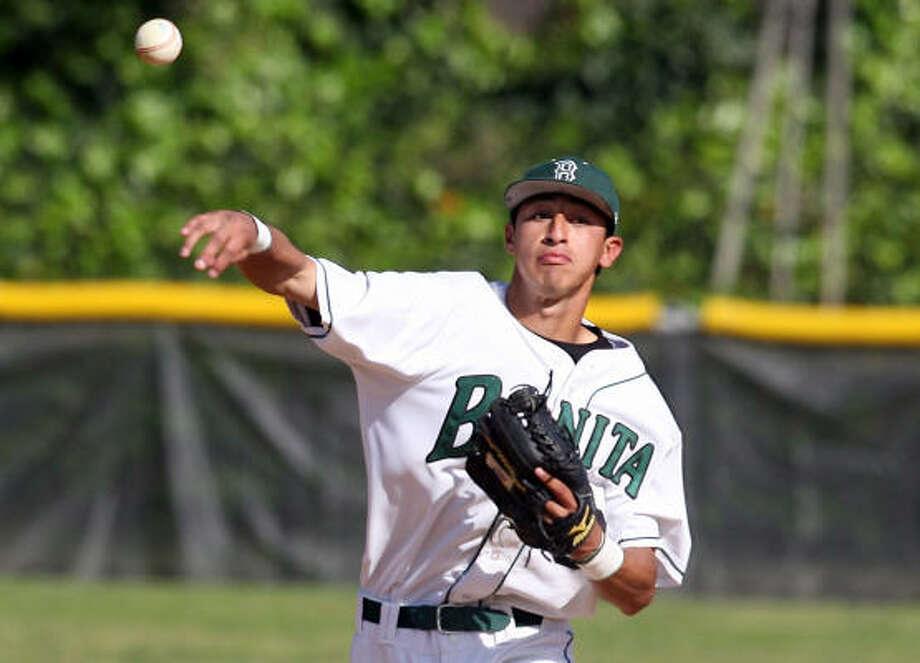 Jiovanni Mier hit .394 with 10 doubles, five home runs and 18 RBIs in his senior season at Bonita High. Photo: Keith Birmingham
