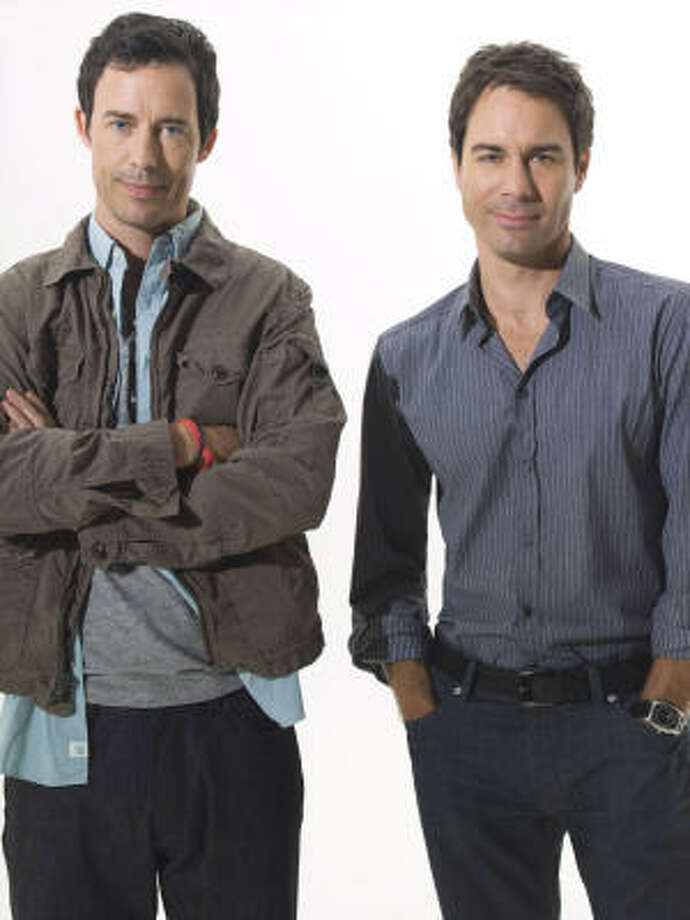 Tom Cavanagh, left, and Eric McCormack play two advertising executives in TNT's new series, Trust Me. Photo: MCT
