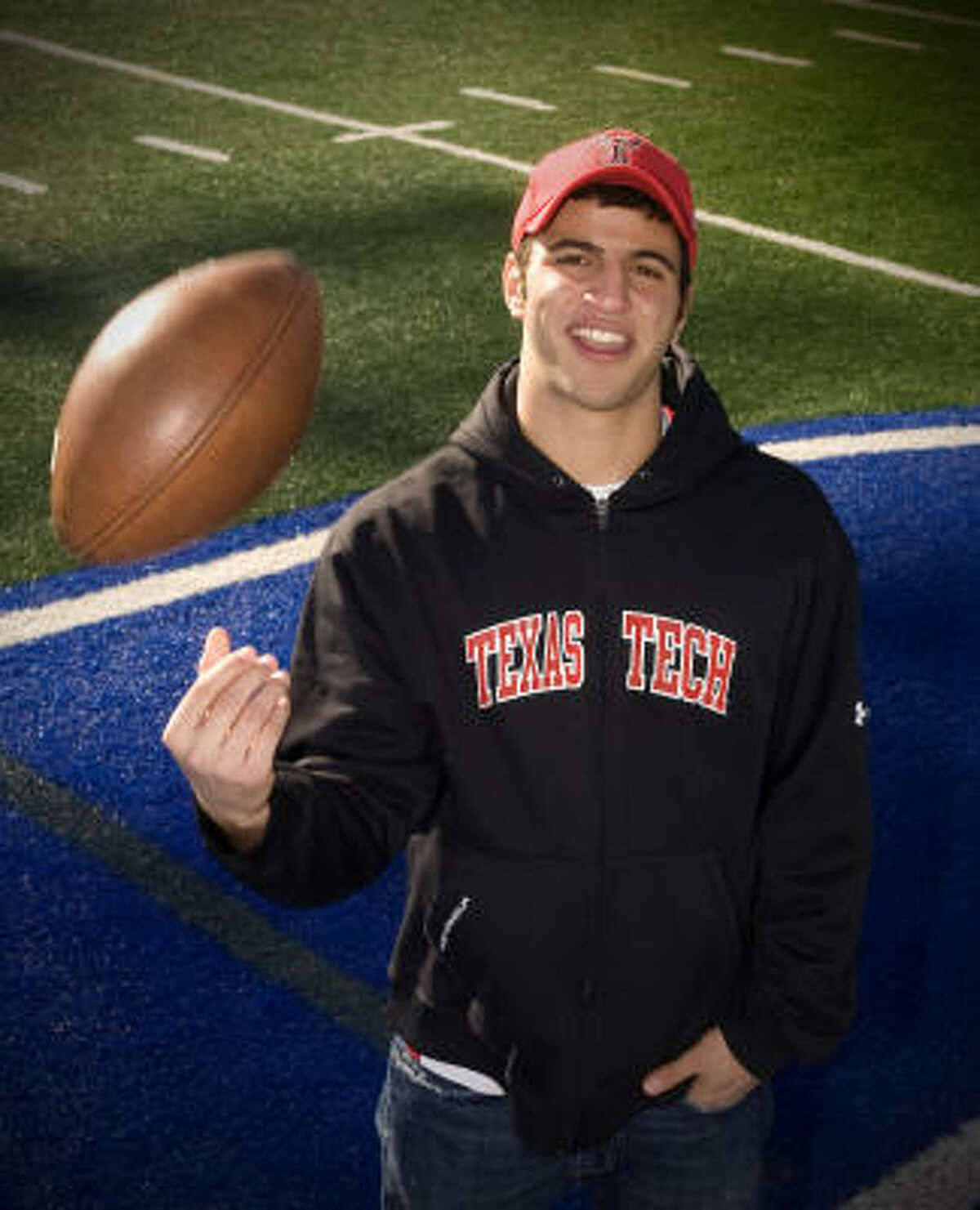 Friendswood's Jacob Karam is ready to start flinging the football in Mike Leach's spread offense.