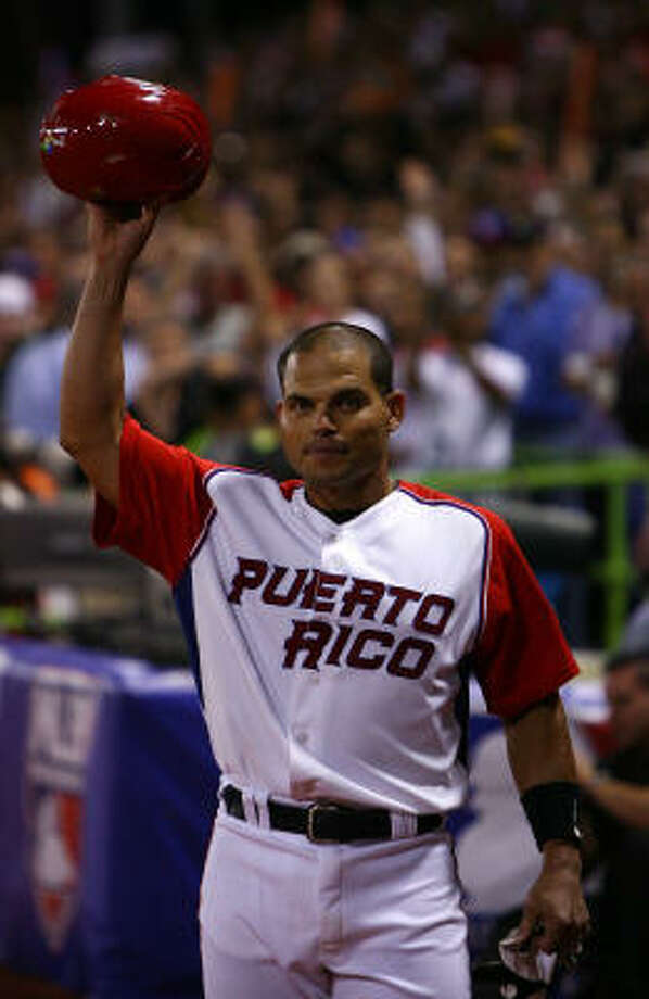 The Astros shouldn't expect to see the Pudge Rodriguez of old this season, rather an old Pudge, Richard Justice writes. Photo: Al Bello, Getty Images
