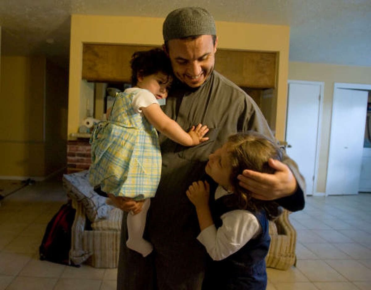 Zoubir Bouchikhi has been reunited with his two daughters, Shareefah, 22 months, and Bushra, 7.