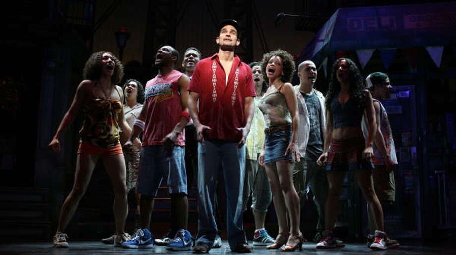 In the Heights,here seen with Javier Munoz, is one of the five-show Broadway Across America-Houston subscription series. Photo: Joan Marcus, Associated Press