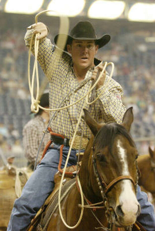 Trevor Brazile can tie the record for most all-around world championships this year. Photo: Christobal Perez, Houston Chronicle