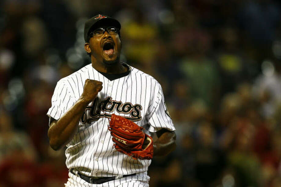 In Jose Valverde's absence, LaTroy Hawkins will serve as the Astros' closer. Photo: Michael Paulsen, Chronicle