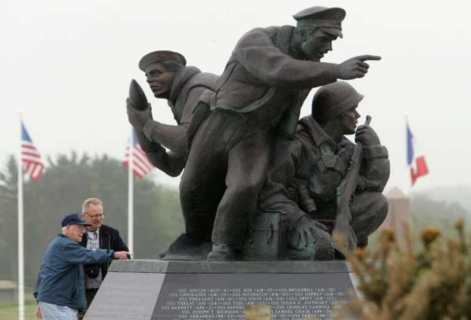 A D-Day memorial at Utah Beach is among the many sculptures that can be found across Normandy.  Photo: REMY DE LA MAUVINIERE, ASSOCIATED PRESS